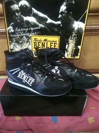 botas boxeo benlee n39 color negro y blanco