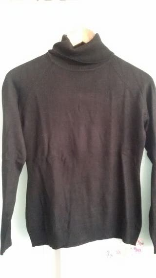 Jersey negro cuello vuelto Hoss Intropia talla XL