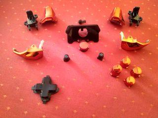 Botones Negros y rojos Xbox one