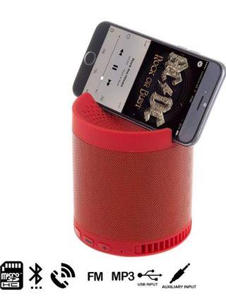 Altavoz Bluetooth con soporte para móvil y tablet