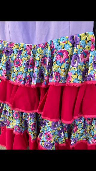 Falda de flamenca talla 36-38