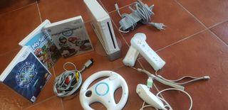 wii + accesorios + 3 juegos