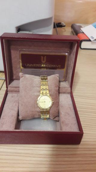 Reloj acero chapado en oro