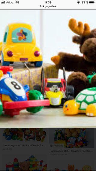 Se recogen juguetes que vayas a tirar