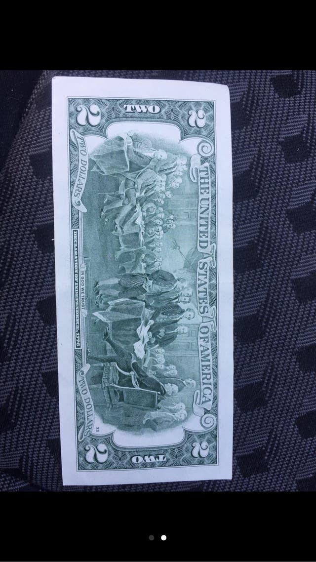 Exclusivo billete de 2 USD