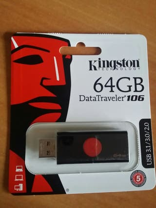Pen Drive 64 Gb USB 3.0 Kingston nuevo