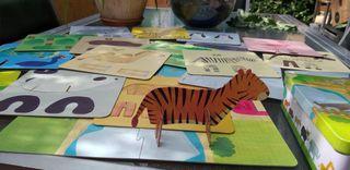 juego puzzle zoo IMAGINARIUM