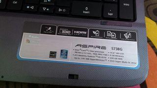 Portátil Acer aspire 5738G. Piezas