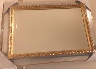 Espejo con marco pan de oro y pan de plata (NUEVO)