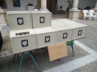 cajas fuertes blanca