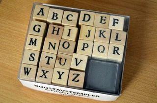 Sellos de letras y números