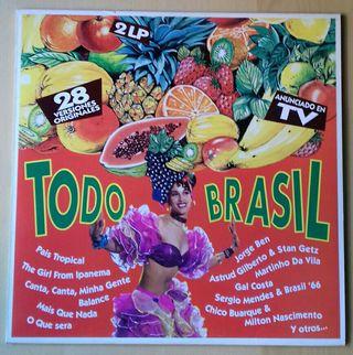 Disco vinilo 2 LPs. Todo Brasil