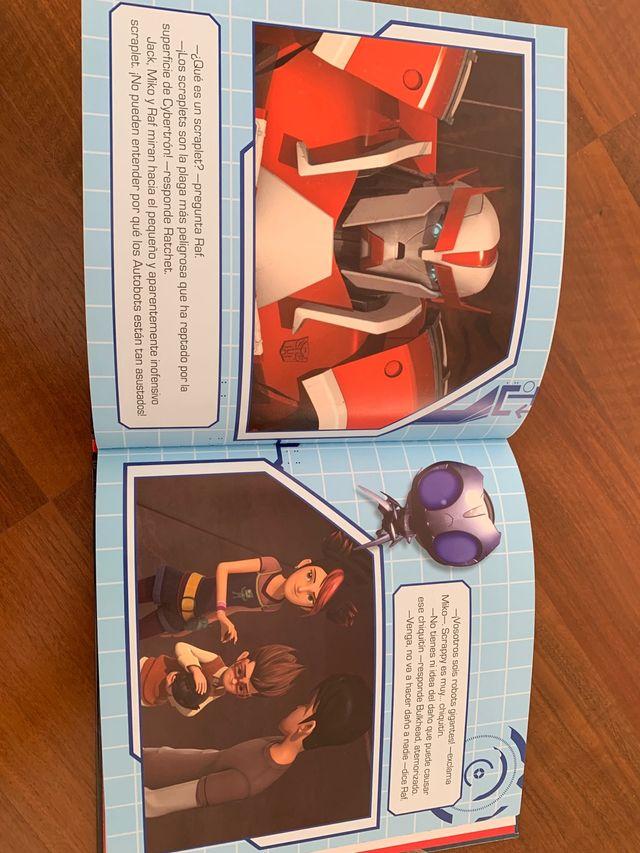 Libro transformers Prime  El ataque de scraplets de segunda