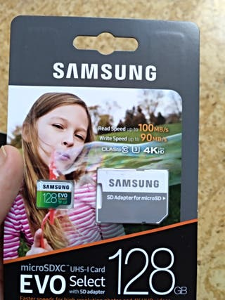 Micro SD carte 128gb and 256 Samsung Evo Select
