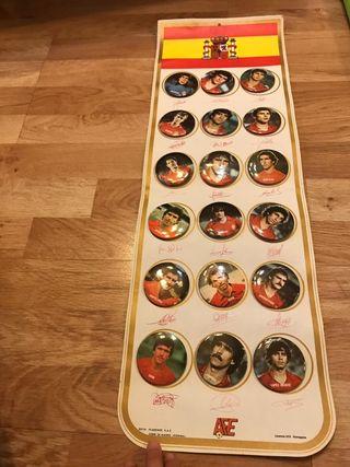 Colección chapas Selección Española 1982