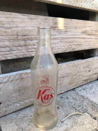 Botella cristal kas antigua para coleccion