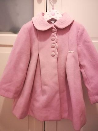 Abrigo Paño rosa con capota Miranda T24m