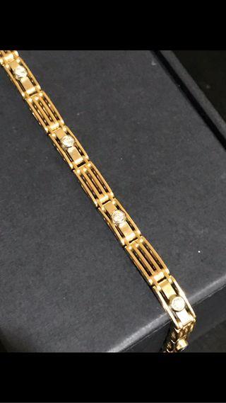 PULSERA DE ORO 18 kts Y Diamantes VVS1 F