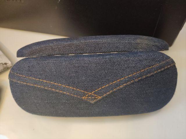funda estuche de gafas forro tela vaquero