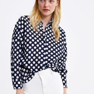 Camisa lunares Zara
