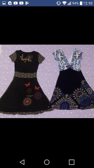 Lote 3 vestidos desigual XS 20€