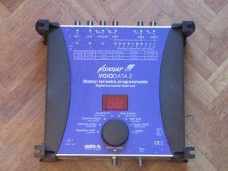 Aplificador de antena TV programable 55dB ganancia