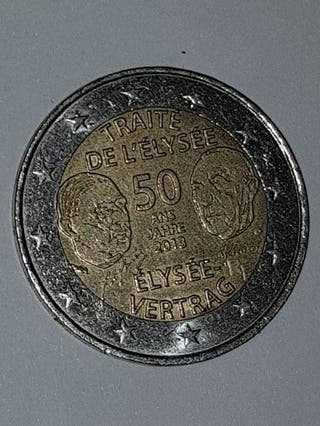 MONEDA 2€ TRATADO DE ELISEO 2013