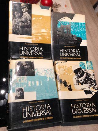 4 TOMOS DE LA HISTORIA UNIVERSAL