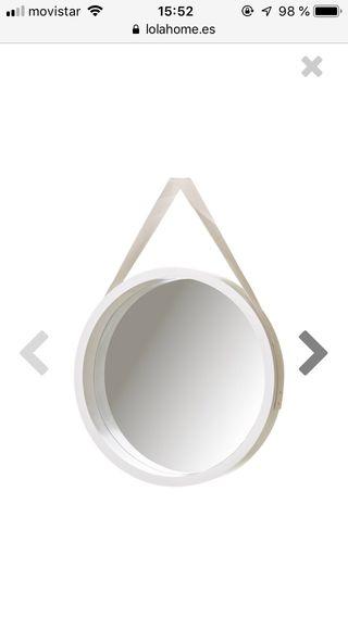 Espejo n rdico blanco 40cm nuevo de segunda mano por 15 - Espejo nordico ...