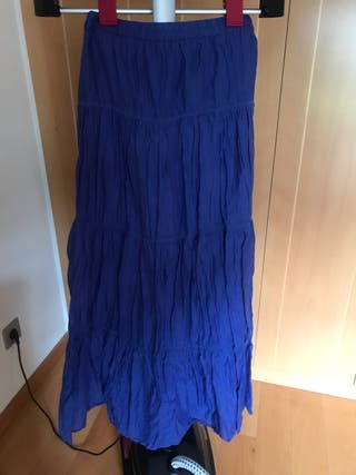 0e724d950 Falda Zara azul de segunda mano en Las Rozas de Madrid en WALLAPOP