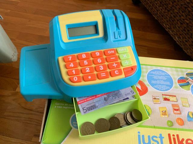 Carrito y caja registradora Toys r'us.