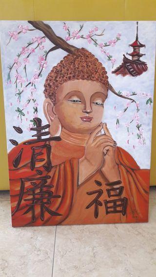 Cuadro original Buda indio