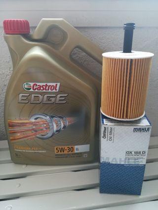aceite castrol 5w30 y filtro aceite