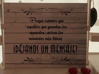 Cartel madera boda comunión cumpleaños