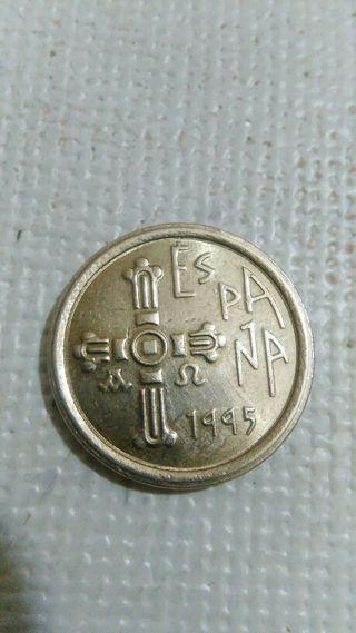 moneda con error de 5 pts de 1995, con acento.