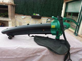 Aspirador con trituradora de hojas + soplador