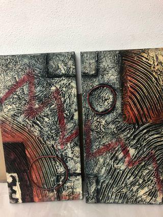 Díptico conjunto de 2 cuadros