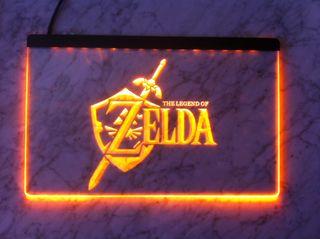 Cartel luminoso Zelda