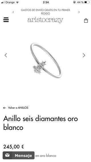 Anillo oro y diamantes Aristocracy