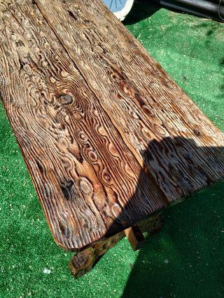 banco mesa madera antiguo