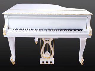 Piano cola Rococo blanco oro nuevo