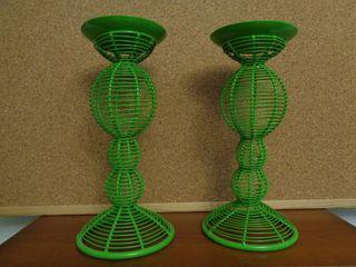 Portavelas candelabro de diseño en metal