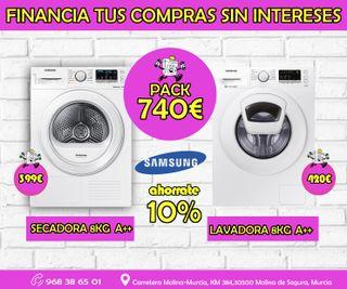 Lavadora + Secador Samsung