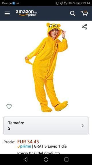 disfraz/pijama Jake el perro. NUEVO