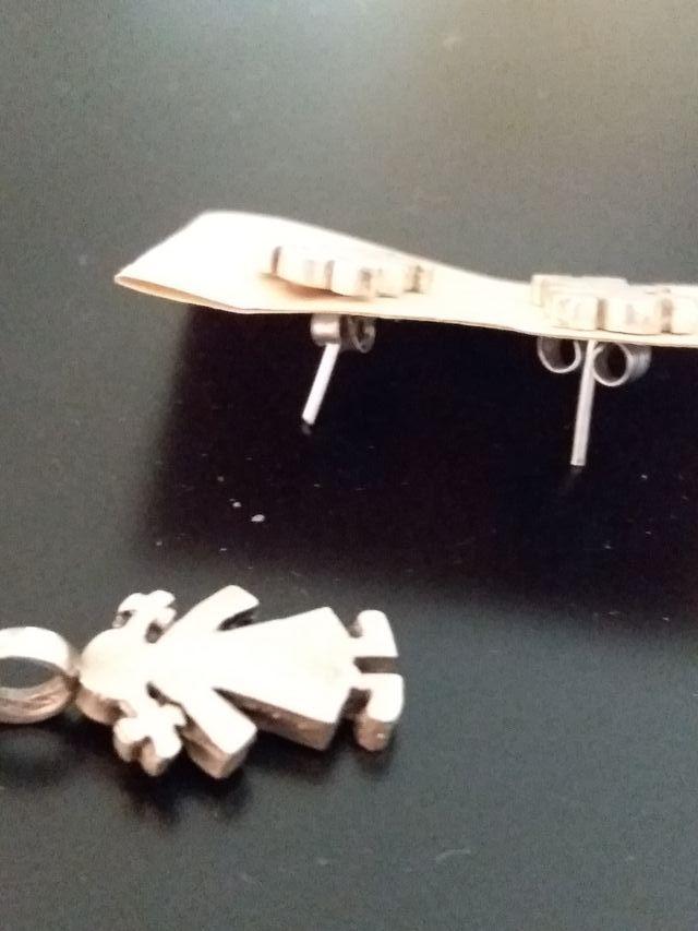 Conjunto de pendientes y colgante plata