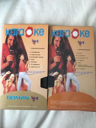Dos cintas vídeo karaoke