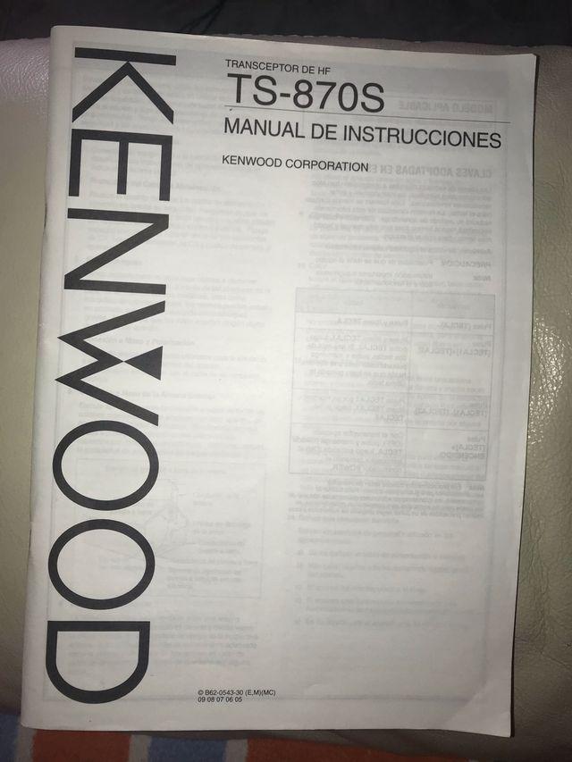 Manual en español kenwood TS-870S