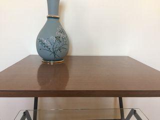 Mesa vintage de madera/hierro