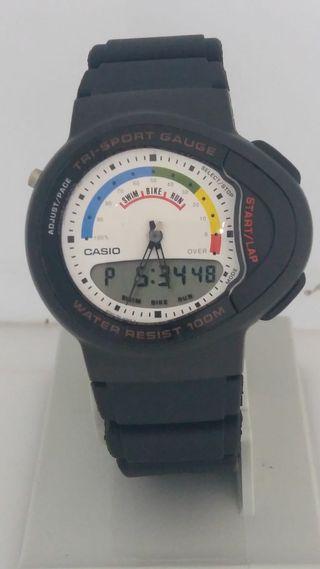 Casio Modilo P ´90 20 De Año Cronometro Mano Reloj Tri 793 Segunda n8Nv0mw