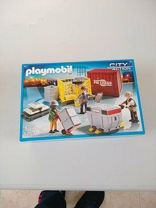 Playmobil 5259. Equipo de carga de mercancias.